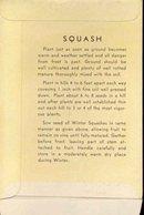 old vintage 1930s SQUASH SEED PACKET ~ PASADENA CA