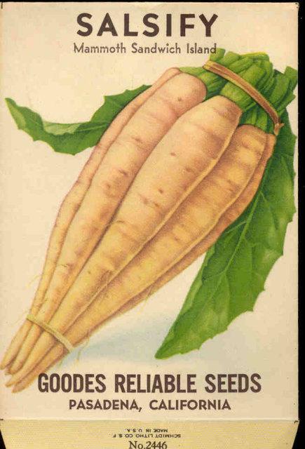 old vintage 1930s SALSFIY OYSTER SEED PACKET ~ PASADENA CA