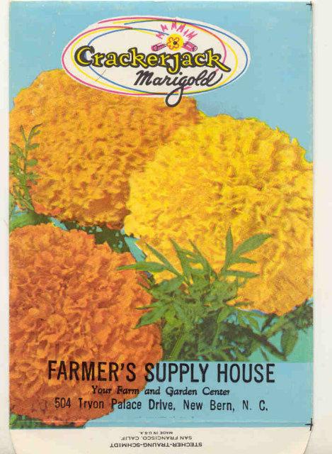 old vintage 1960s MARIGOLD FLOWER SEED PACKET