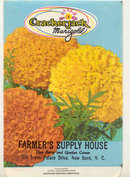 old vintage 1960s MARIGOLD FLOWER SEED PACKET