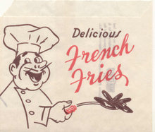 old vintage 1954 FRENCH FRY BAG ~ FRIES