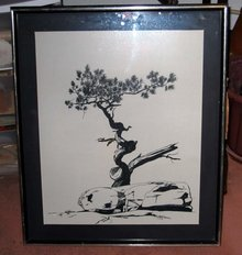 old vintage 1973 ink ART DRAWING S. MURPHY