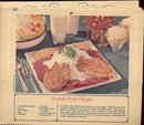 old vintage 1974 RECIPE CALENDAR ~ LAS VEGAS NEVADA