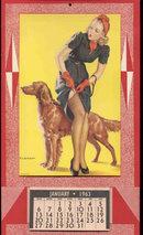 old vintage 1963 ELVGREN PINUP GIRL CALENDAR