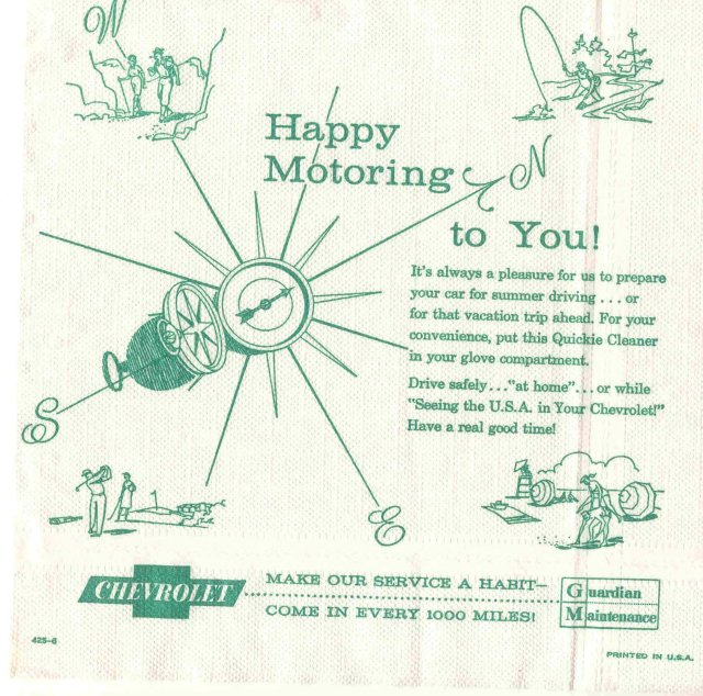 CHEVROLET AD NAPKINS ~ CAR AUTO ~ 1973