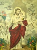 Antique Currier & Ives Jesus Christ Framed Art Lithograph Print