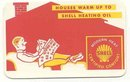 old vintage 1961 SHELL OIL calendar card