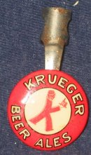 Krueger Beer Celluloid Metal Pencil Clip