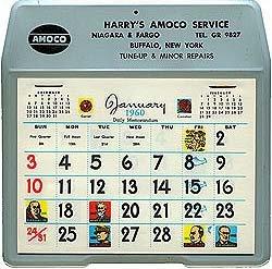 Amoco Gas Calendar