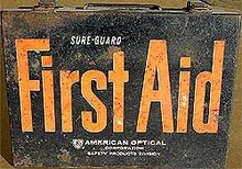 First Aid Metal Kit Box - Full Medical Supply