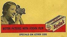 old vintage 1940s KODAK ENVELOPE