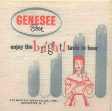 Genesee Beer Napkins - Jenny Sexy Lady