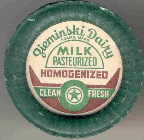 old vintage ZIEMENSKI DAIRY MILK POG CAP mass