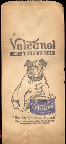 Vulcanol Bulldog Stove Polish Bag