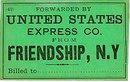 old vintage 1901 US EXPRESS FREIGHT TAG