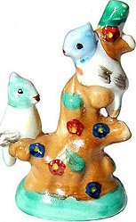 old vintage OCCUPIED JAPAN BIRDS ON TREE statue figurine
