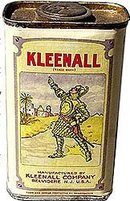 old vintage 1920s KLEENALL Knight Armor Container
