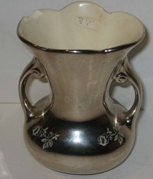 Platinum Rose China Vase 22k