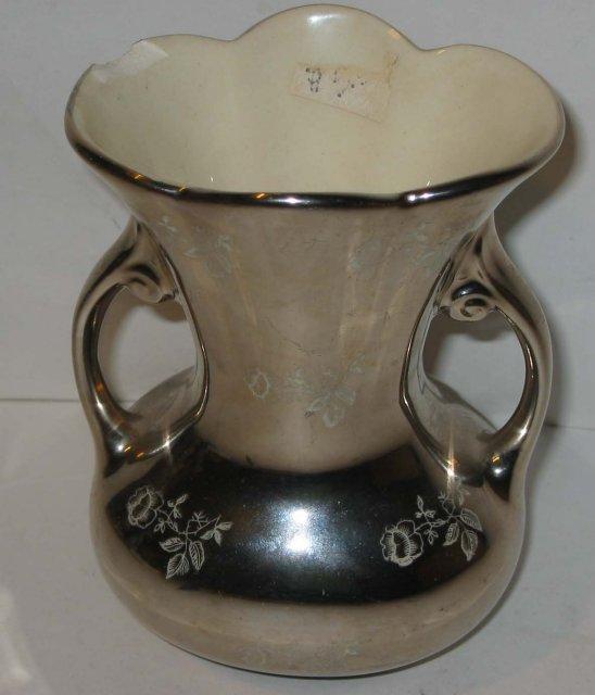 Platinum Rose China Vase 22k