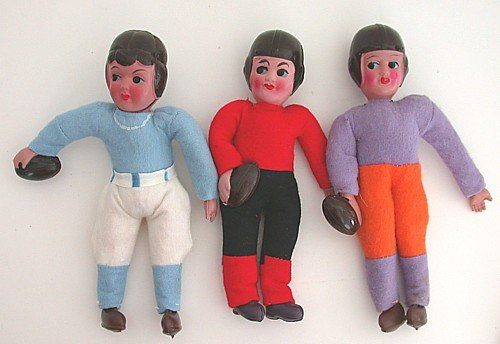 Celluloid Football Player Doll Toy