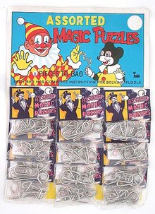 old vintage clown MAGIC PUZZLES store display