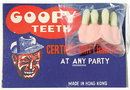old vintage 1950s GOOFY TEETH on store card toy