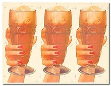 old vintage MALTS IN GLASS soda sign poster