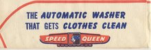 old vintage SPEED QUEEN WASHING MACHINE paper ad hat