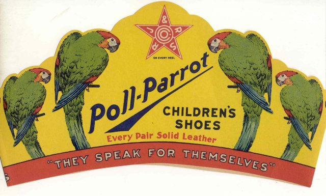 old vintage 1940s POLL PARROT ADVERTISING crown TOY