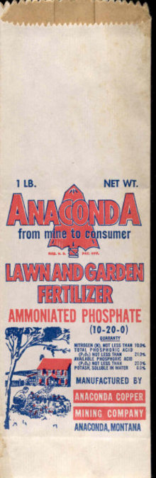 1930s ANACONDA MONTANA fertilzer Farm bags