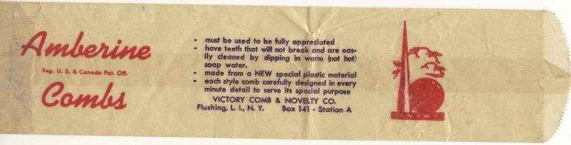 Flushing NY Amberine Comb Bag