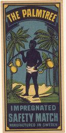 Impregnated Match Label - Black Memorabilia