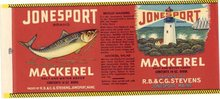 Jonesport Mackeral Fish Label
