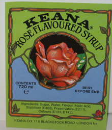 Keana Rose Syrup Label