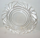 Glass Swirl Cake Plate