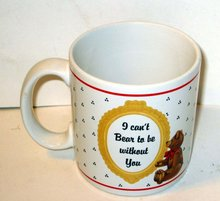 old vintage TEDDY BEAR coffee mug