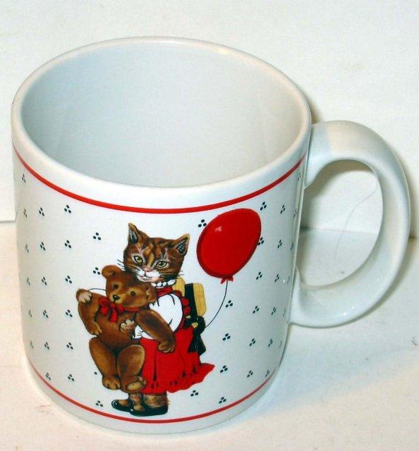 old vintage TEDDY BEAR coffee mug