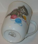 old vintage elegant KITTEN TEA COFFEE MUG