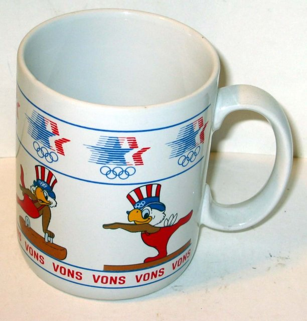 old vintage 1980 OLYMPICS coffee mug