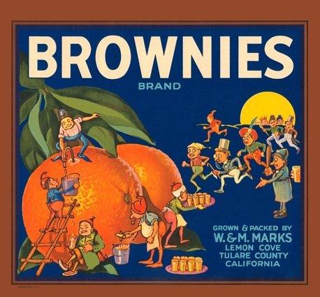 Palmer Cox Brownie Crate Label