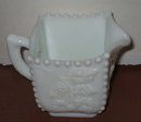 old vintage GRAPE PATTERN Milk Glass Creamer