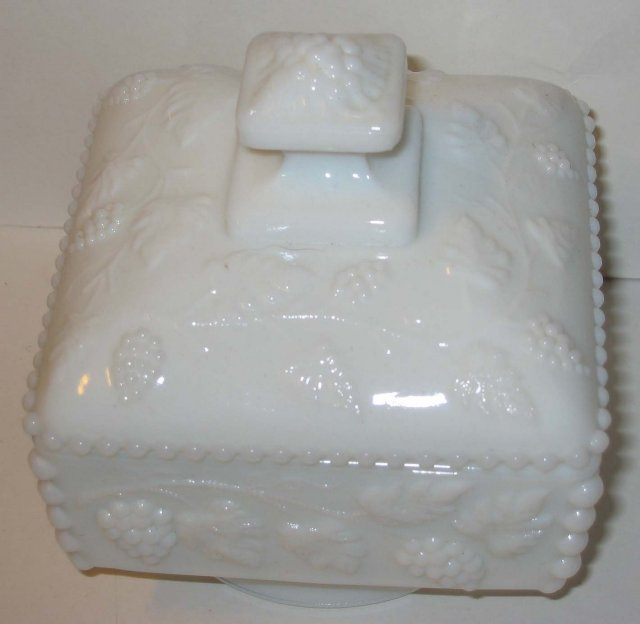 Milk Glass Lidded Candy Dish