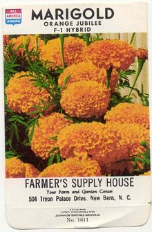 old vintage 1978 MARIGOLD FLOWER GOLD SEED PACK