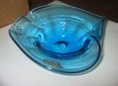Rainbow Blue Glass Candy Dish