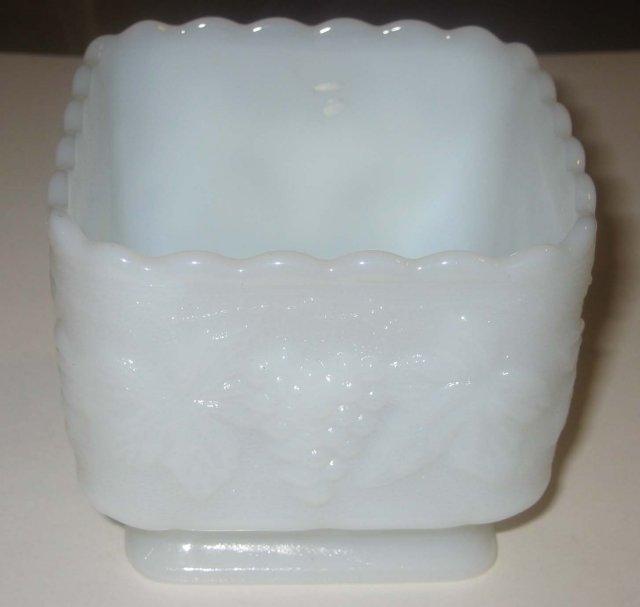Milk Glass Grape Pedestal Dish