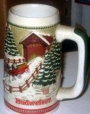 old vintage Anheuser Busch Budweiser Beer Stein