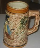 old vintage JAPAN CERAMIC GLAZED BEER STEIN