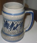 old vintage BMF BIERSEIDEL Ceramic Glazed Beer STEIN Mug