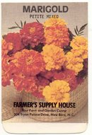 old vintage 1981 petite MARIGOLD FLOWER seed pack