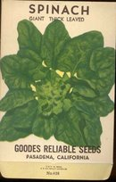 old vintage 1930s SPINACH SEED PACK ~ PASADENA CALIFORNIA